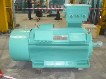 Supply 1 x Unit 200kW , 3.3 kV , 6-Pole Motor, GEF Brand - AC HT Cement Mill Motor