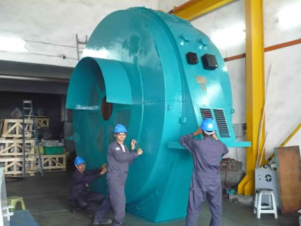 Complete Rewind - Brushless Synchronous Motor 2500kW 48Pole 6kV